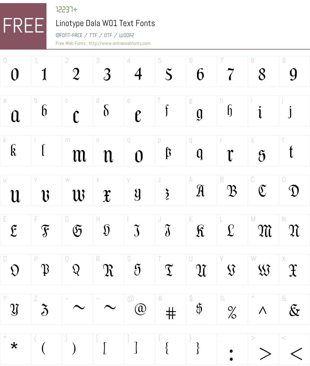 LinotypeDalaW01-Text Font Screenshots