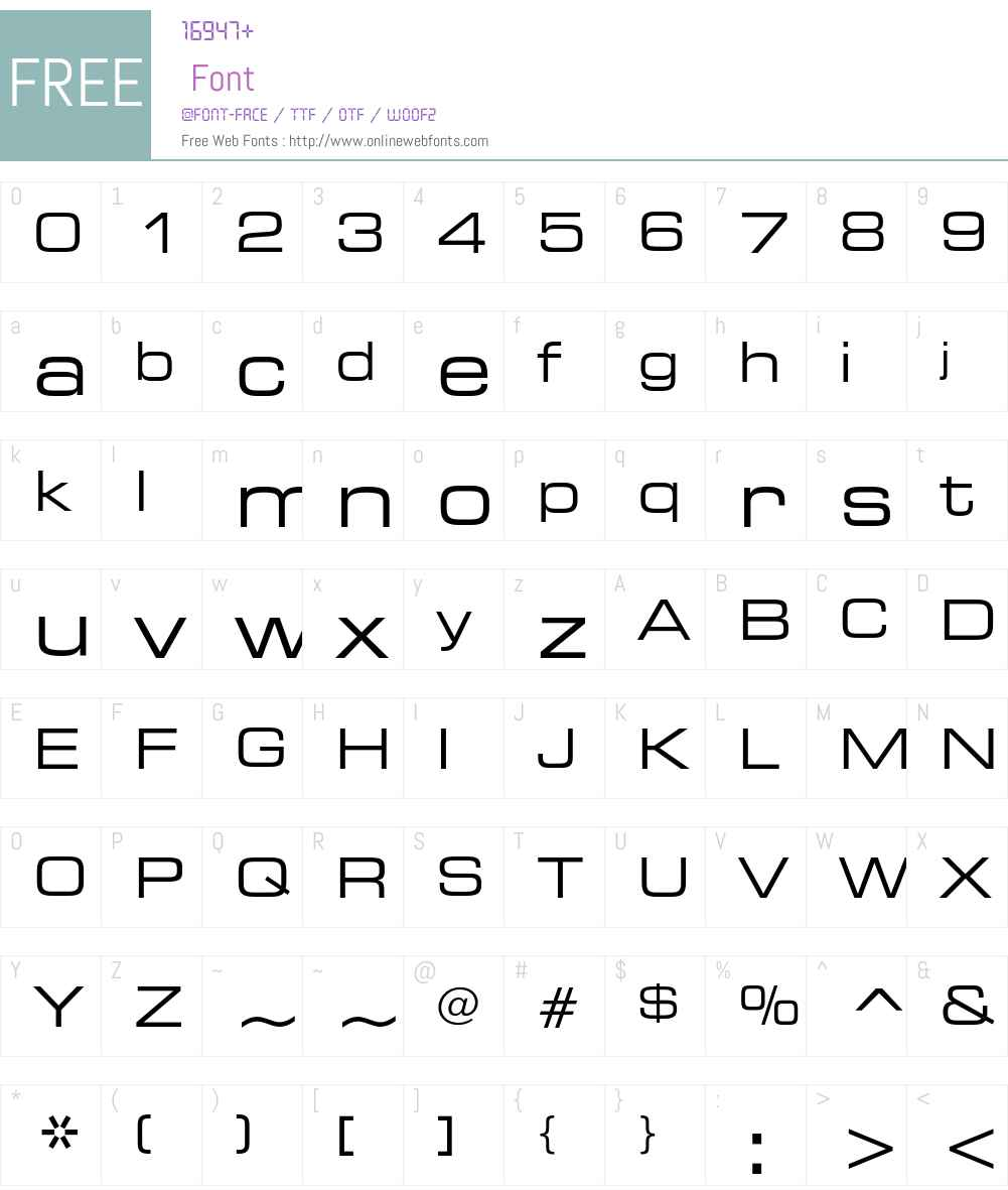 Square 721 Font Screenshots