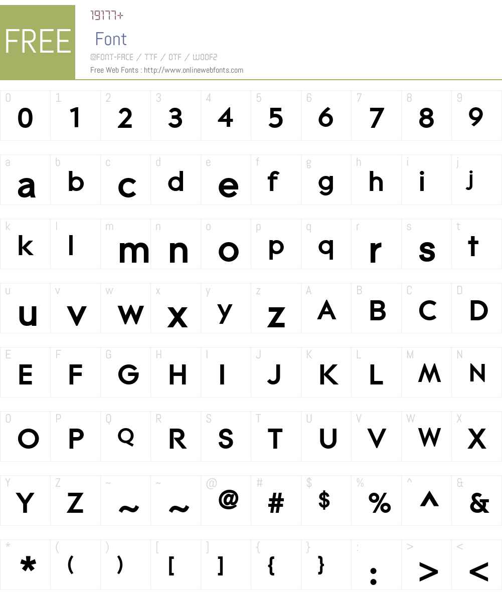 Contax Pro 75 Bold Font Screenshots