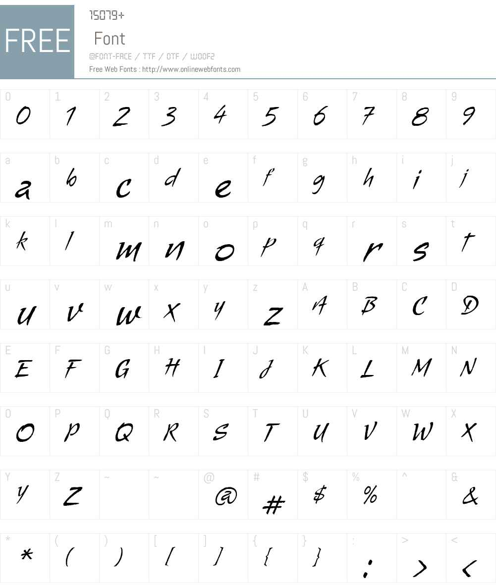 AlmaW00-Regular Font Screenshots