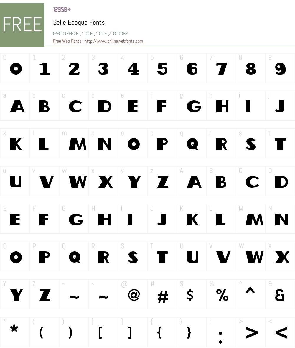 Belle Epoque Font Screenshots