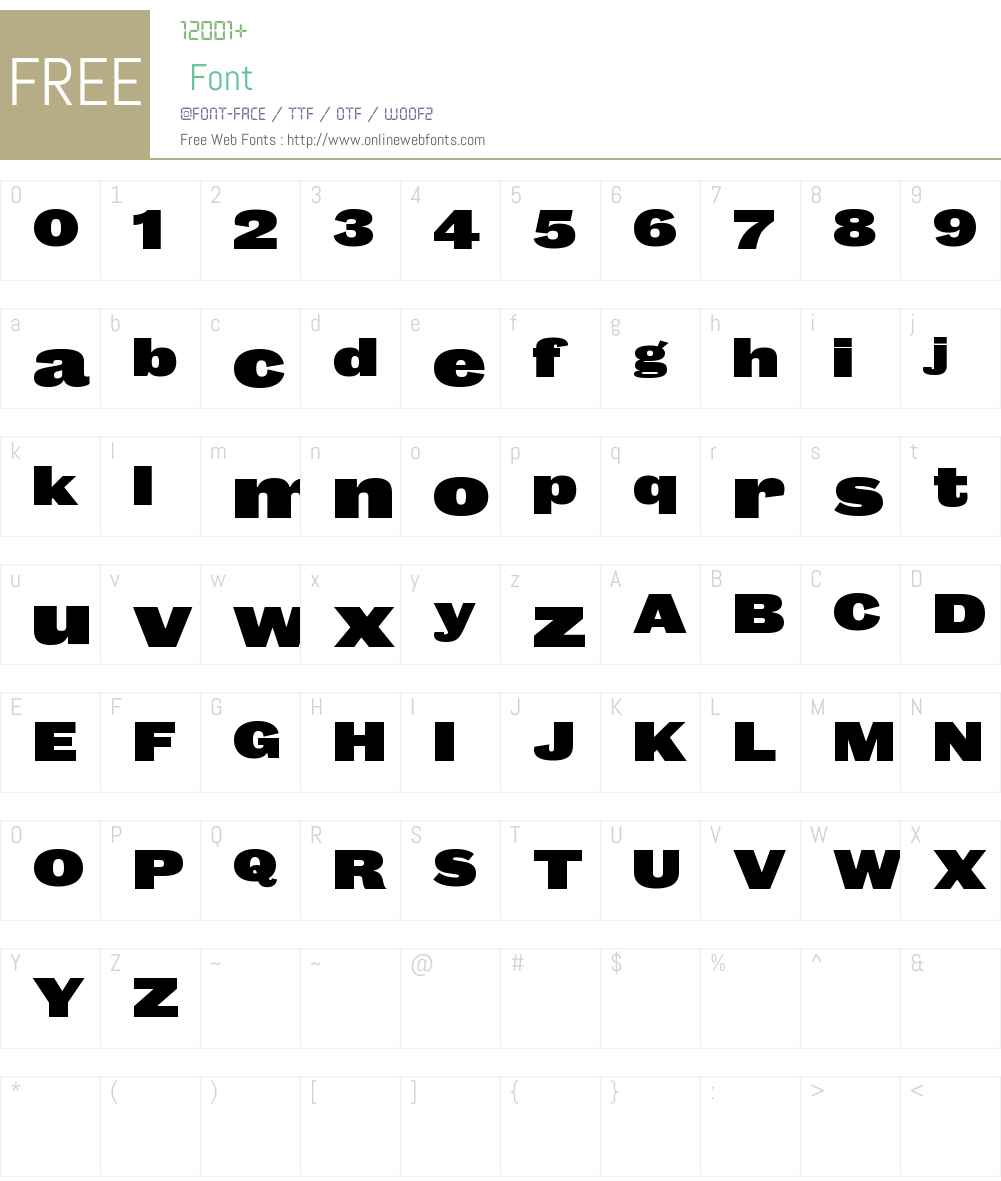 Caslon Doric Wide Web Fat Font Screenshots