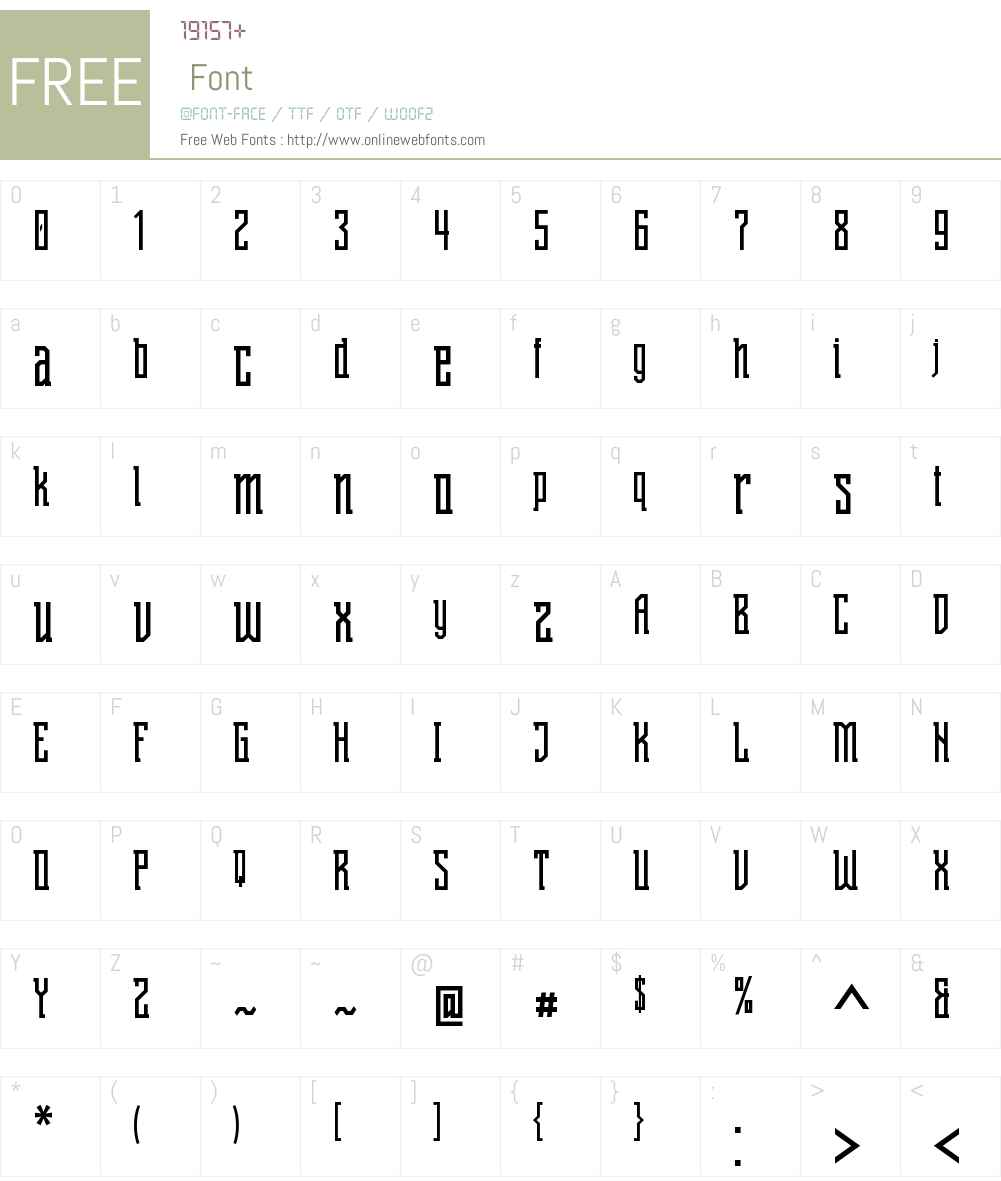 Shihan Font Screenshots