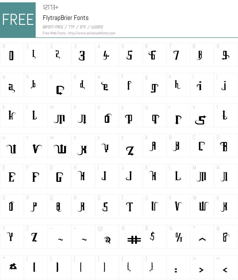 Flytrap Font Screenshots