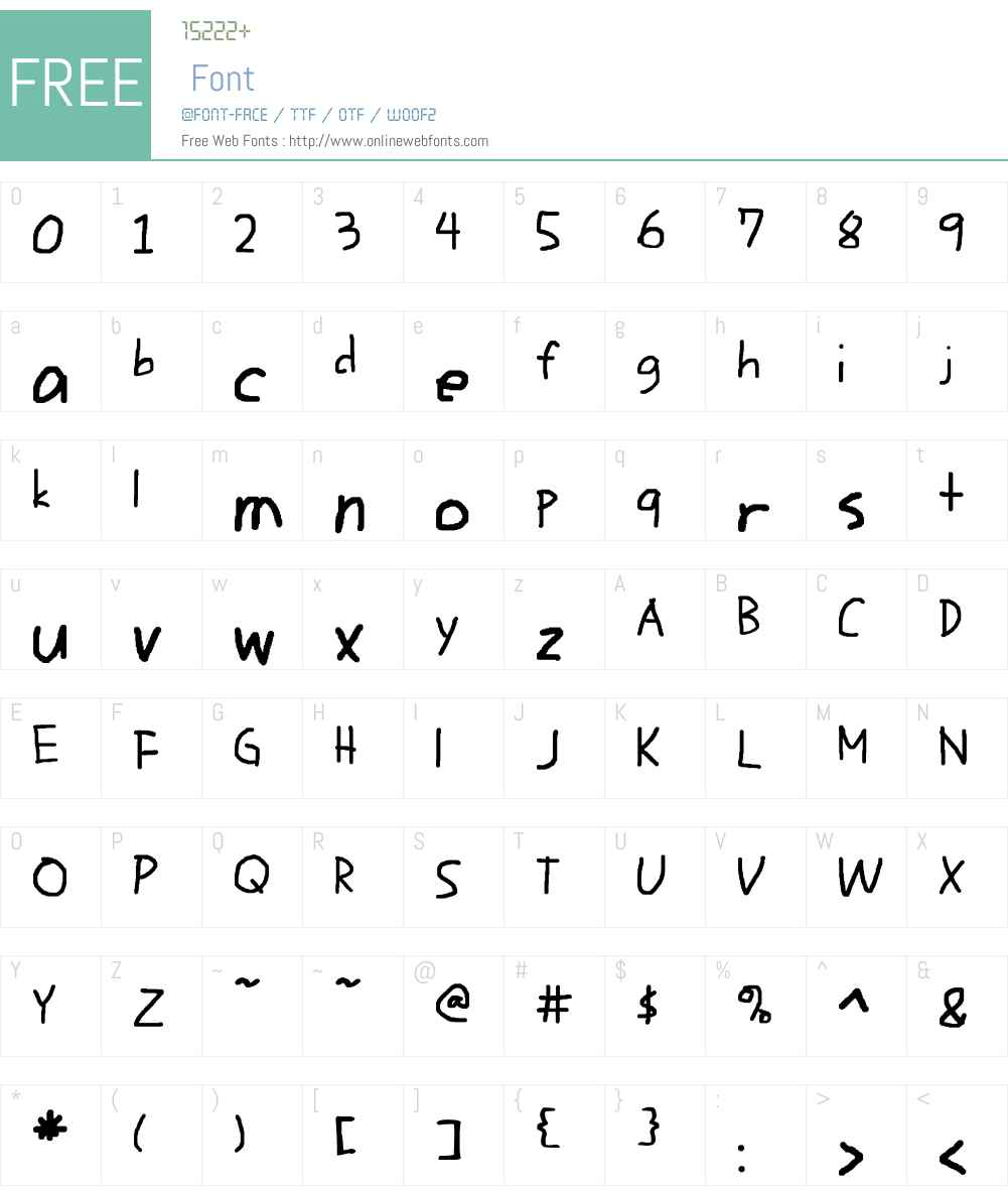 Writico 2 Font Screenshots