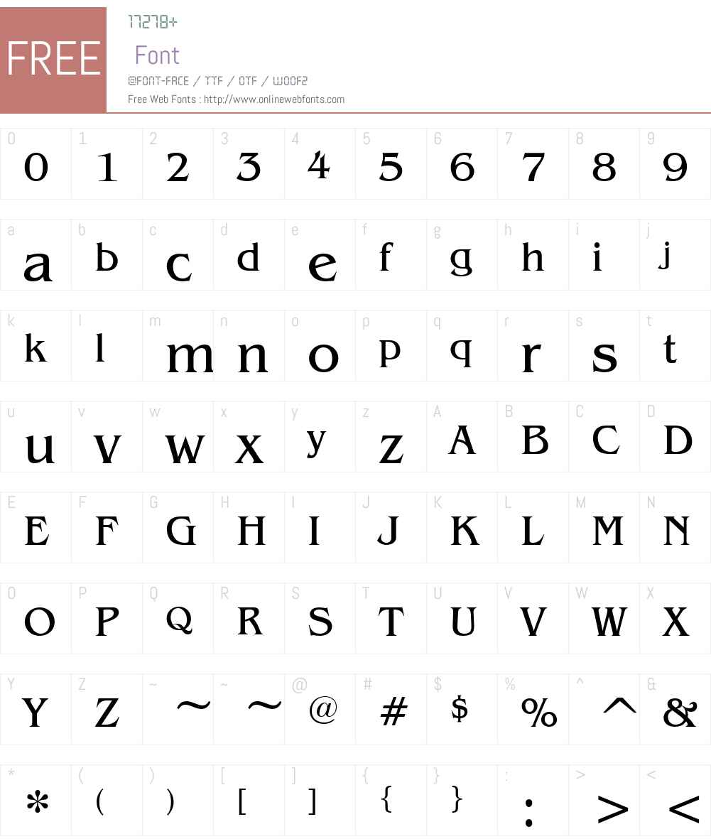 Mirage Font Screenshots