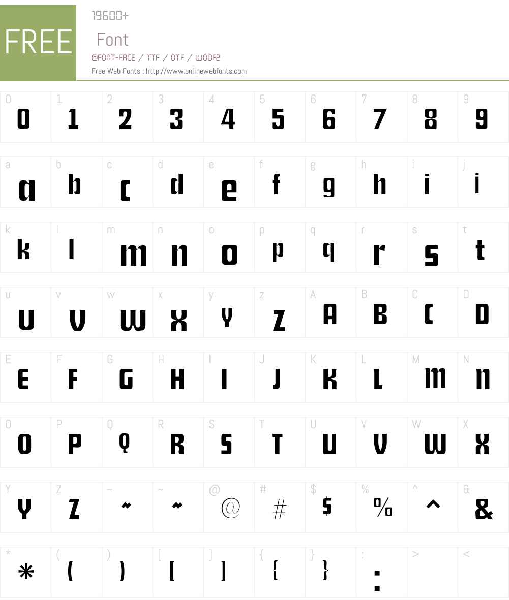 Shylock Font Screenshots