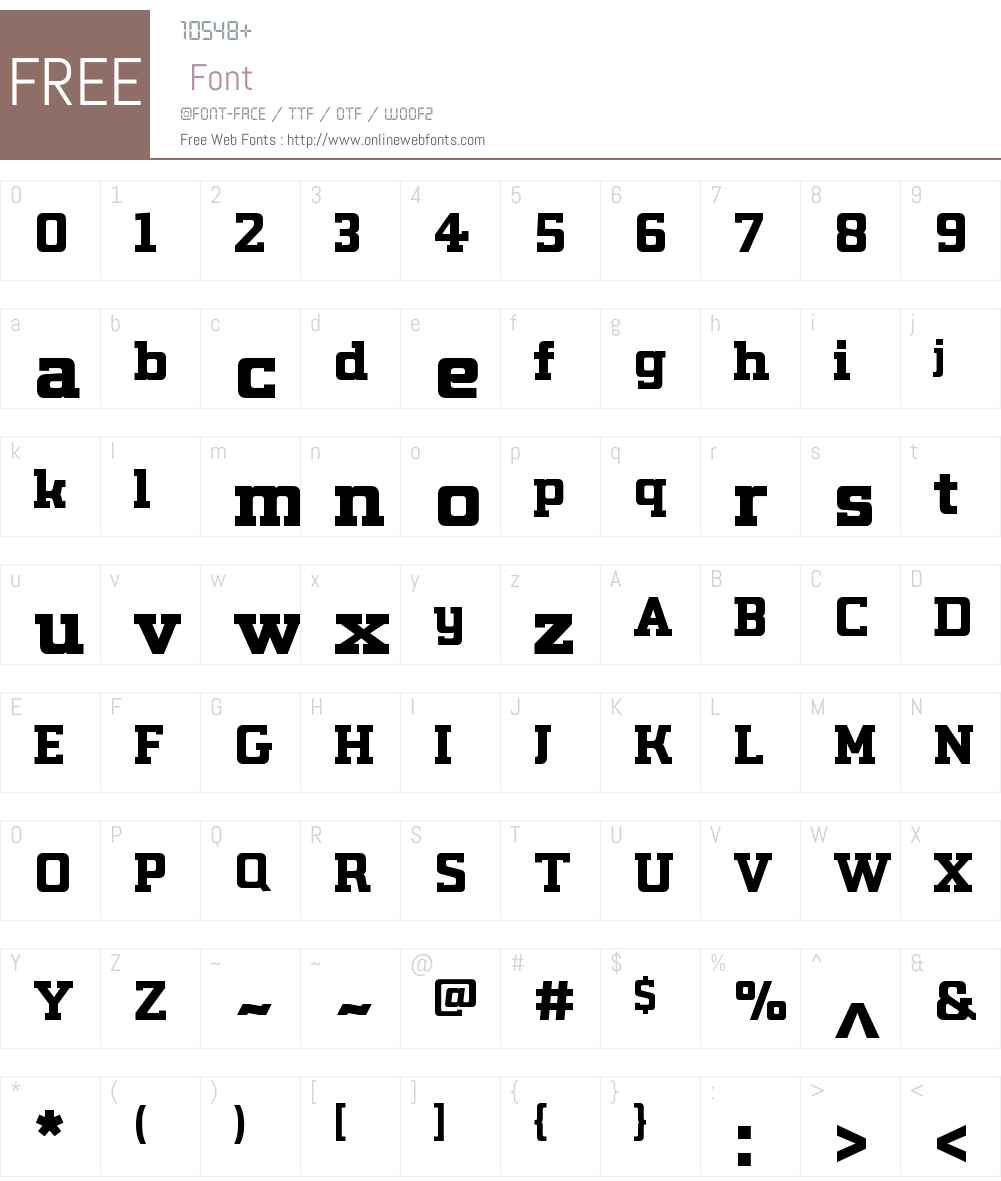 LabSlabW01-ExtraBold Font Screenshots