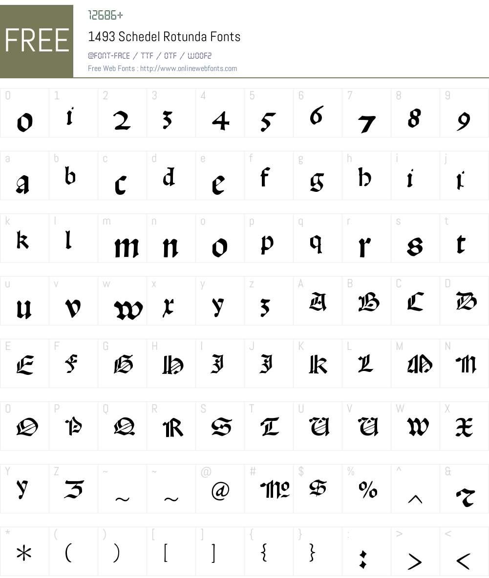 1493 Schedel Rotunda Font Screenshots