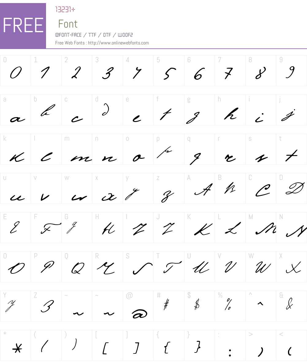 PushkinW01-ScriptLow Font Screenshots