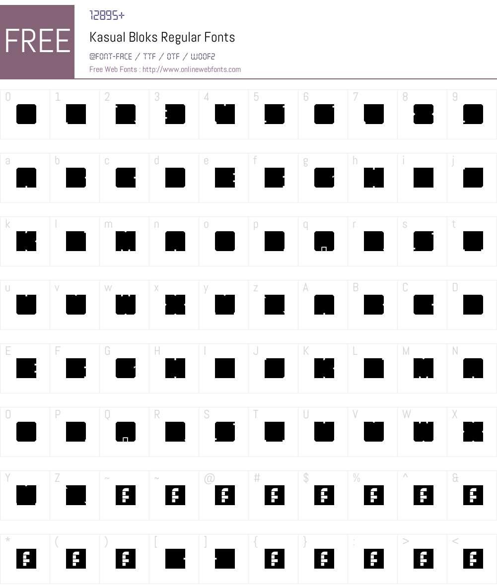 Kasual Bloks Font Screenshots