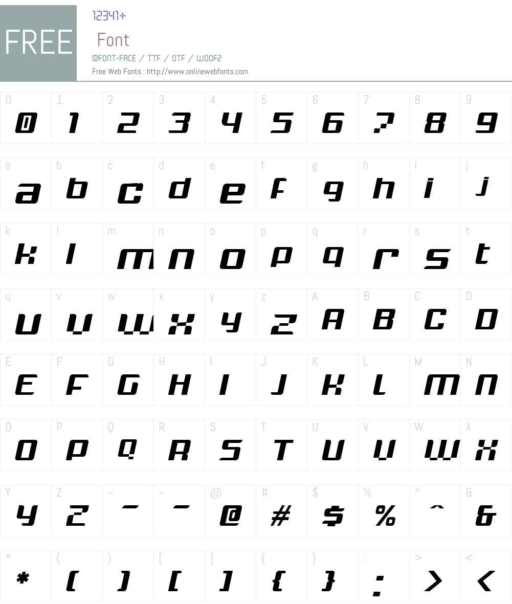 Krunch Font Screenshots