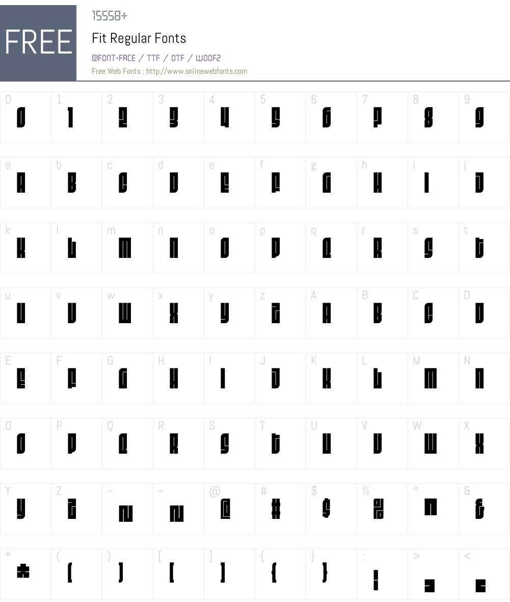 Fit Regular Font Screenshots