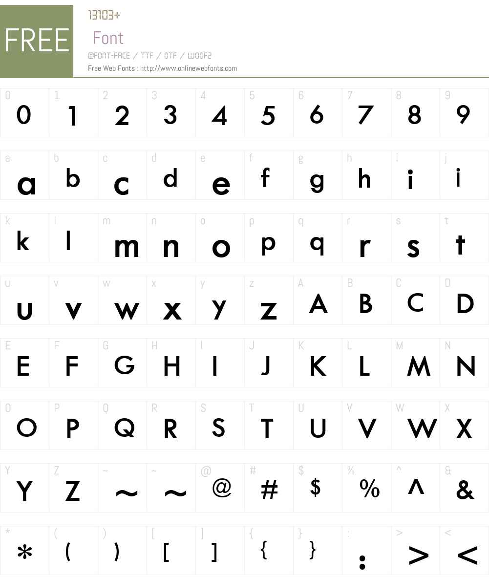 TwCenW01-SemiBold Font Screenshots