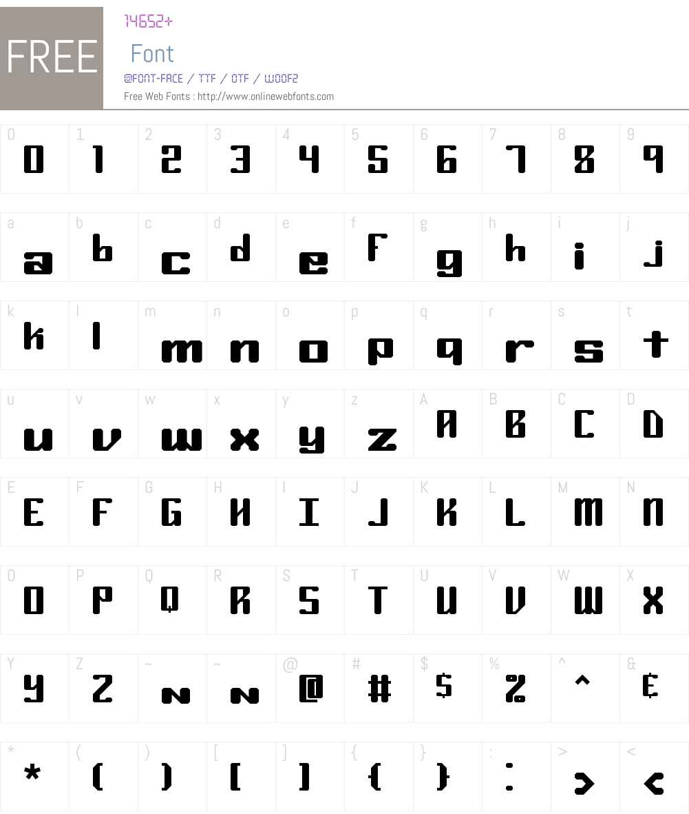 Ryuker BRK Font Screenshots