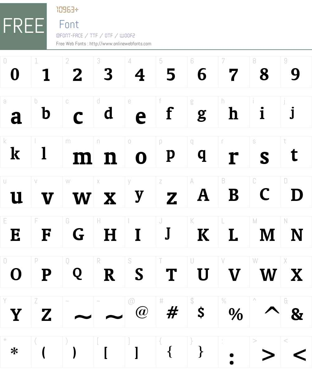 OrandaW01-Bold Font Screenshots