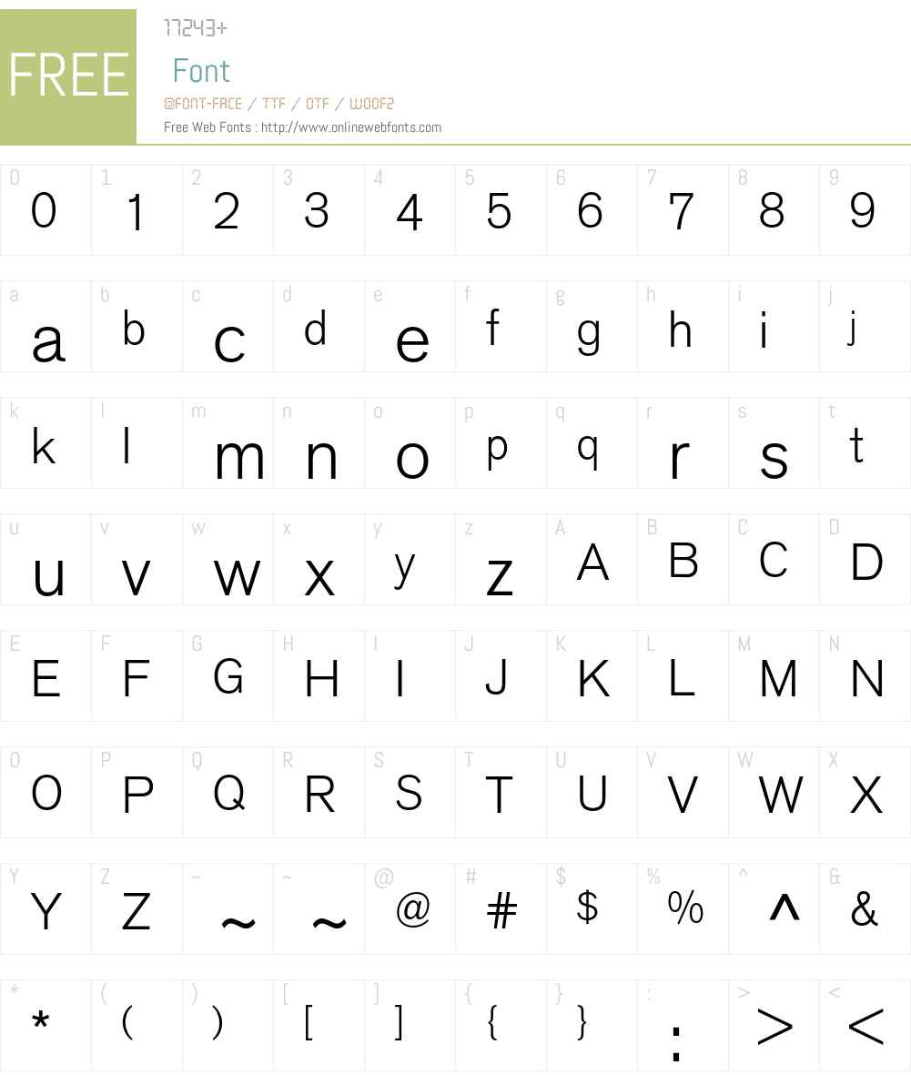 VolvoSans Font Screenshots