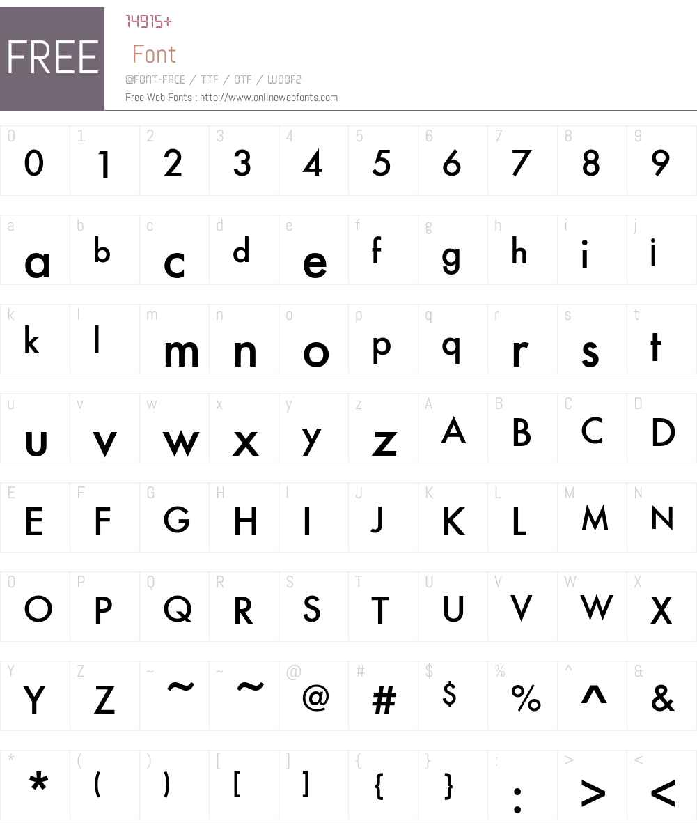FuturaEFTU-Medium Font Screenshots