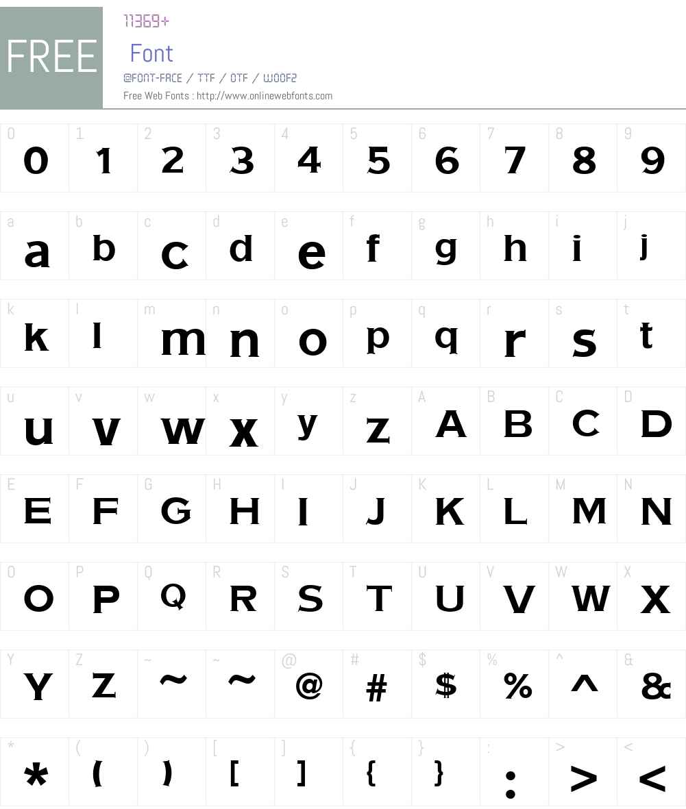 URWAmericanGothicW01-Bold Font Screenshots
