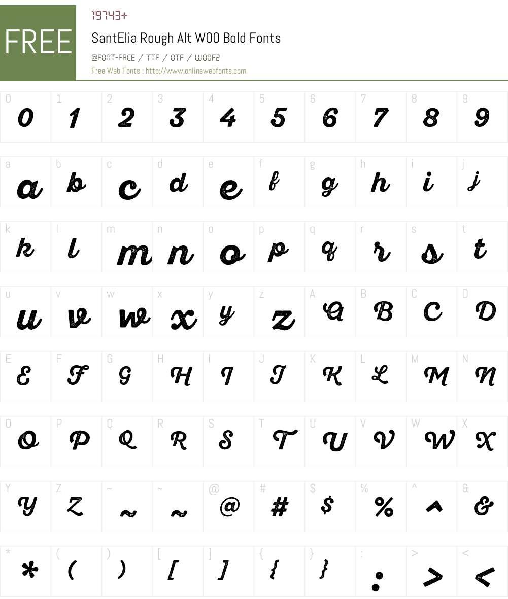 SantEliaRoughAltW00-Bold Font Screenshots