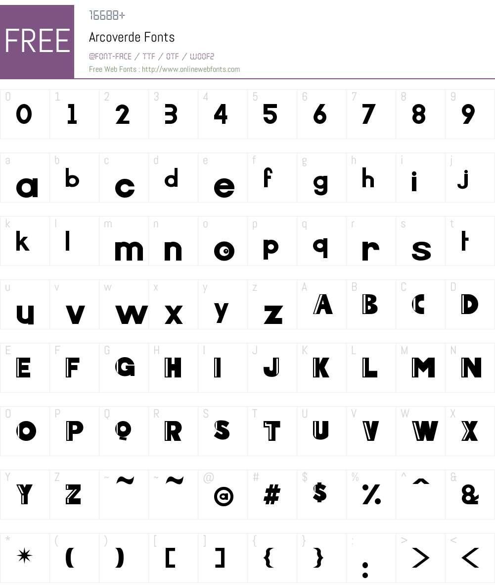 Arcoverde Font Screenshots