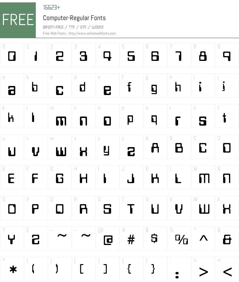 Computer Font Screenshots