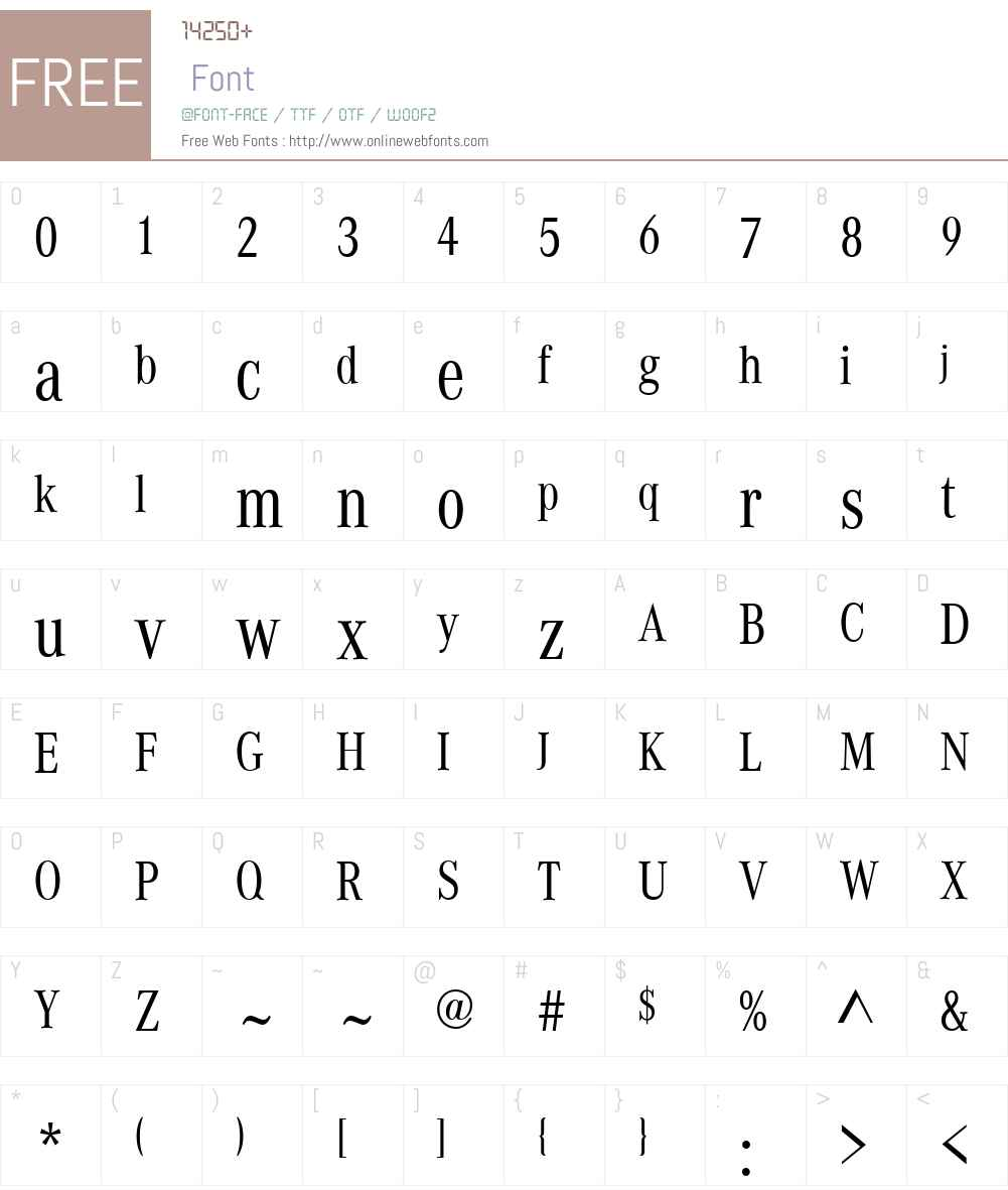 Daimler CAC Font Screenshots