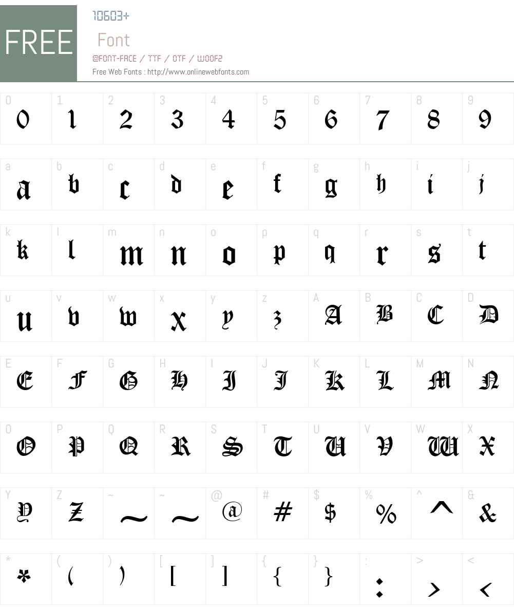 OldEnglish Font Screenshots