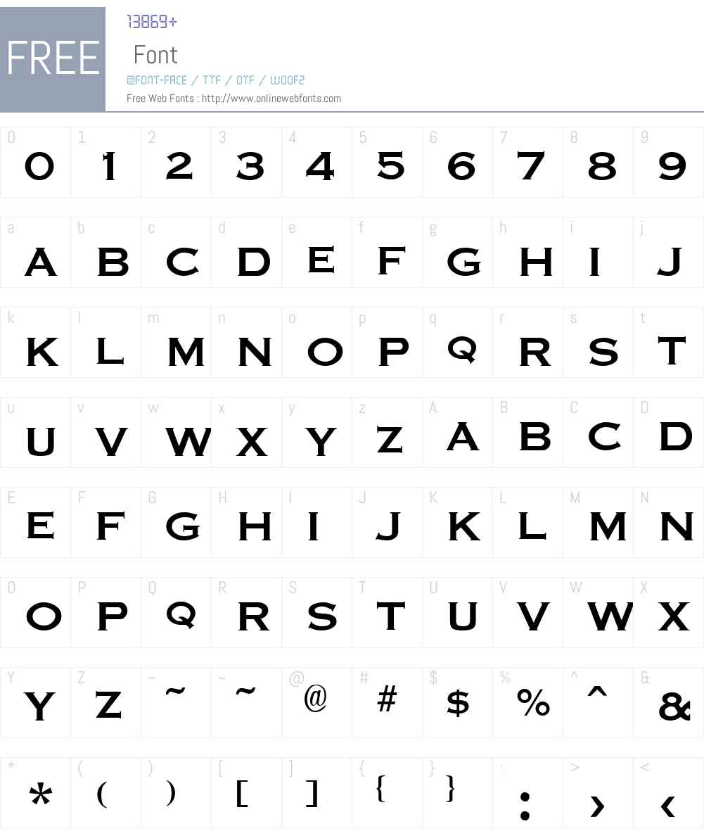 Graverplate Font Screenshots