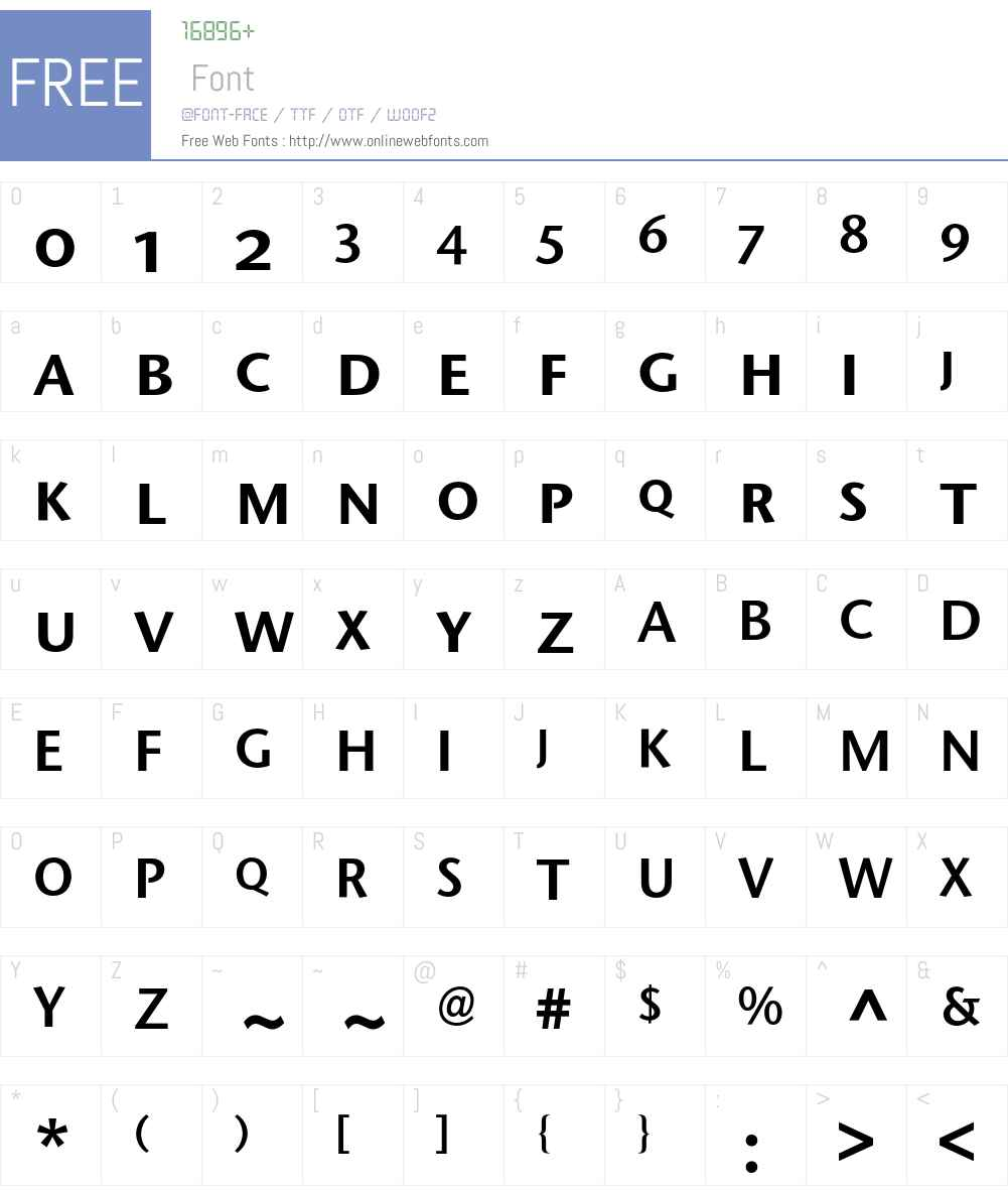 Stone Sans Expert BQ Font Screenshots