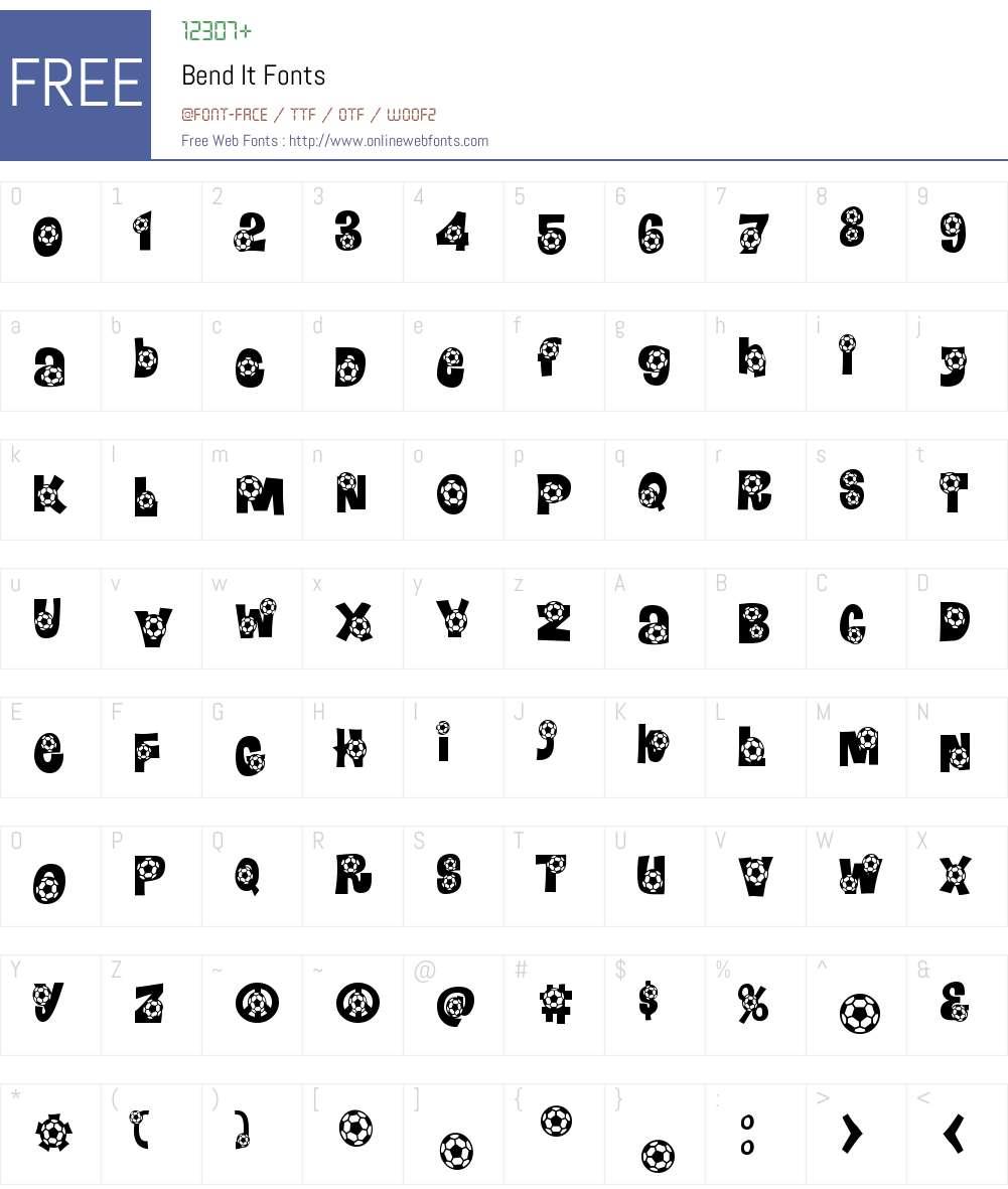Bend It Font Screenshots