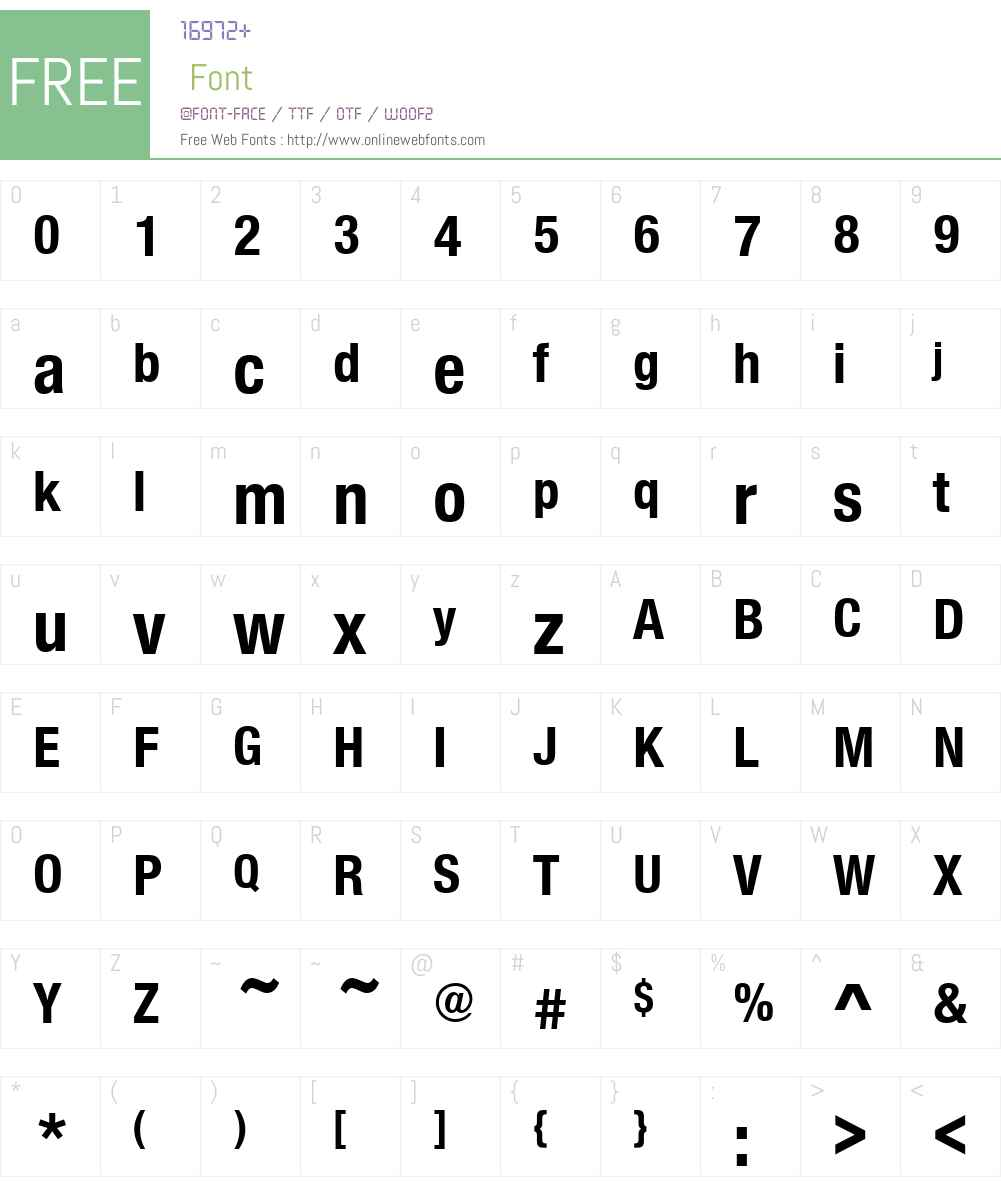 NimbusSanNovConW00-Bold Font Screenshots