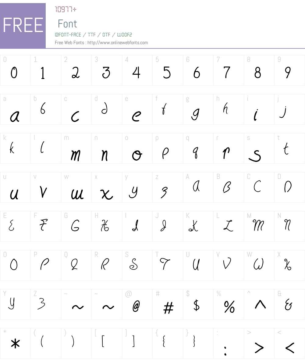 HavingWrit Font Screenshots