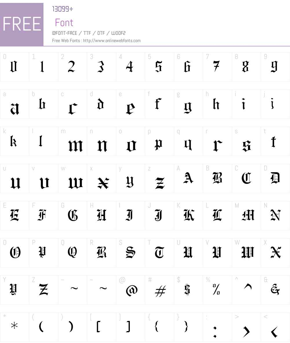 Rochester Font Screenshots