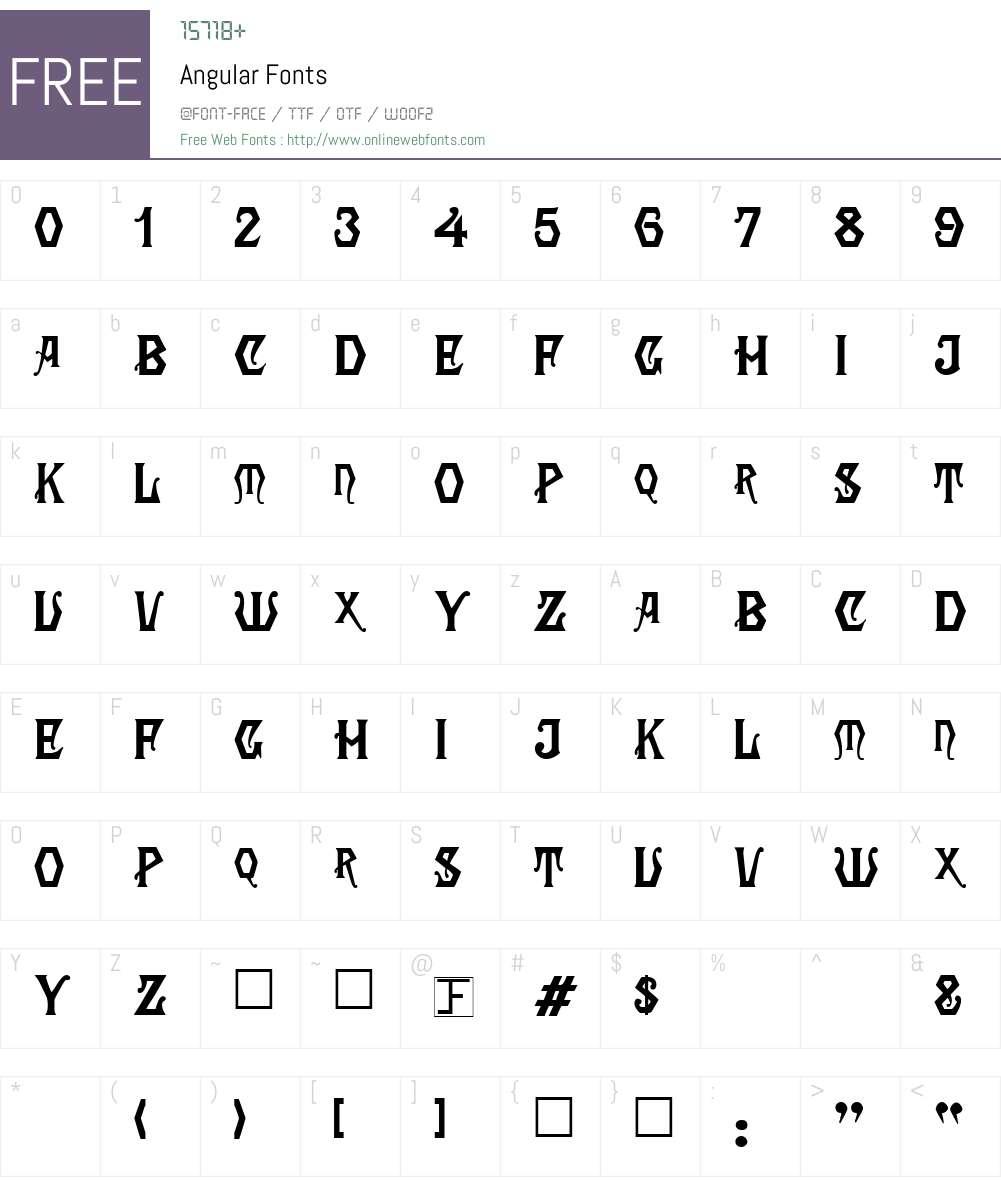 Angular Font Screenshots