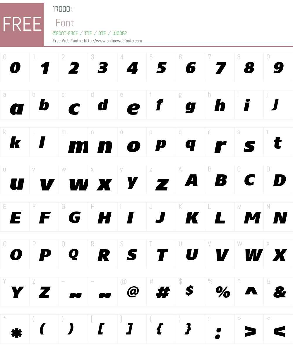 CoreSansNW01-95BlackItalic Font Screenshots