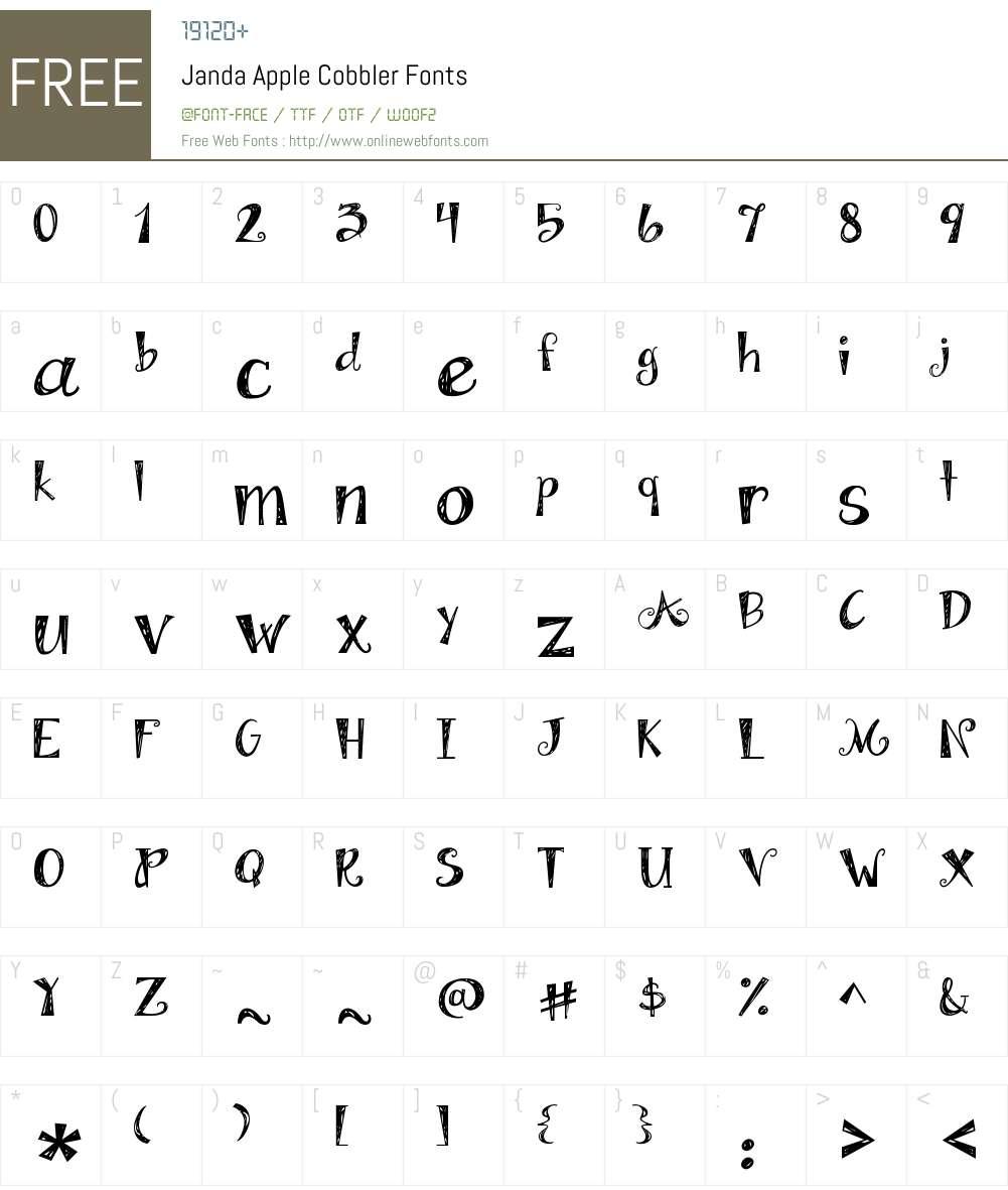 Janda Apple Cobbler Font Screenshots