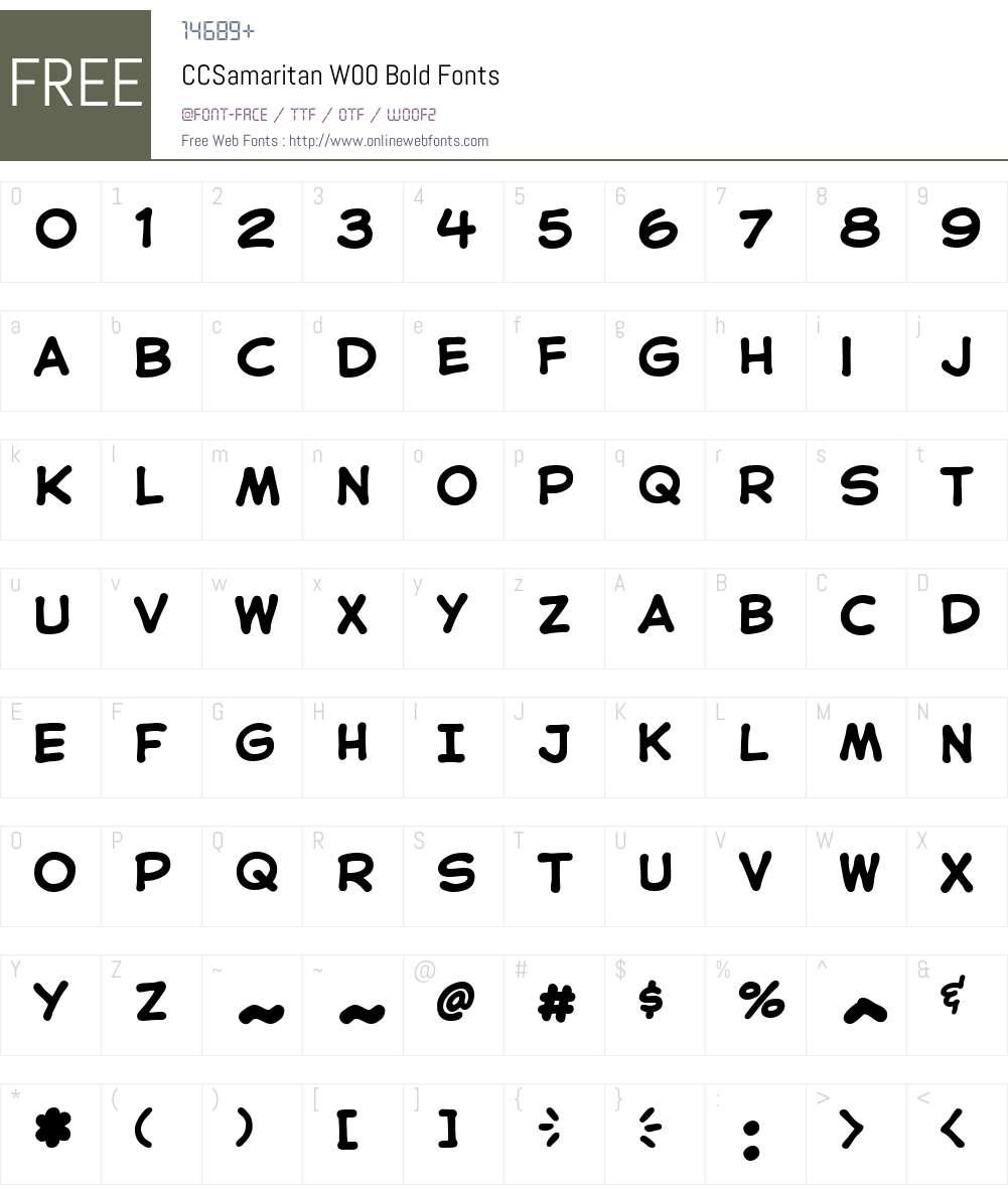 CCSamaritanW00-Bold Font Screenshots