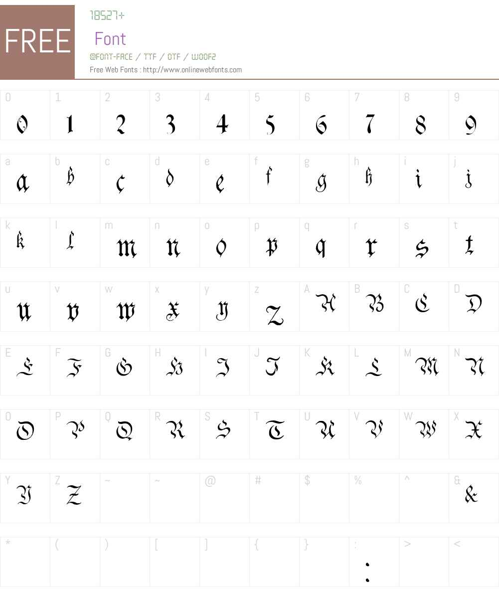 Charterwell Font Screenshots