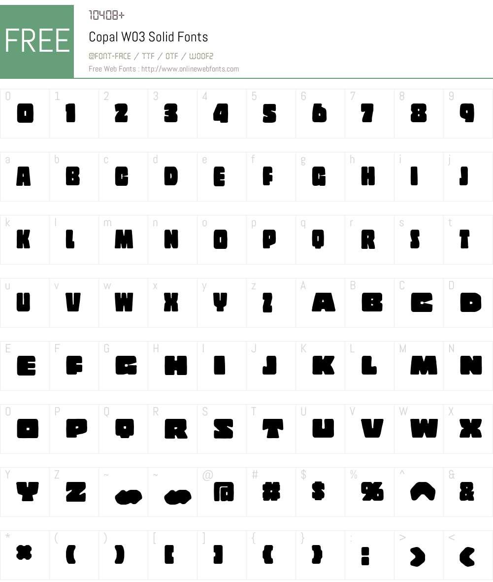 CopalW03-Solid Font Screenshots