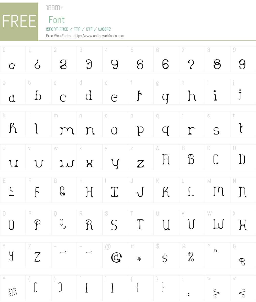 Desultory Font Screenshots