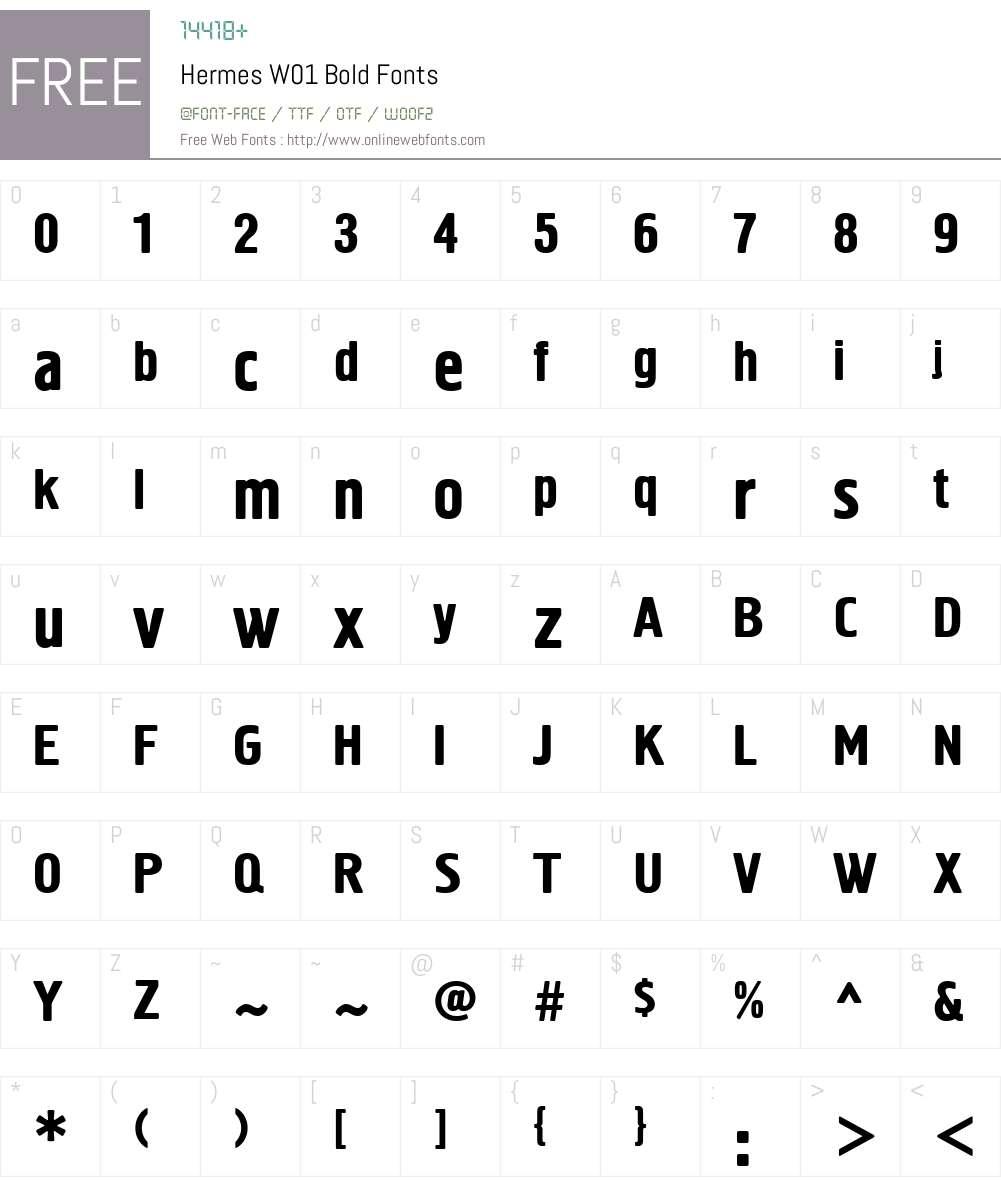 HermesW01-Bold Font Screenshots