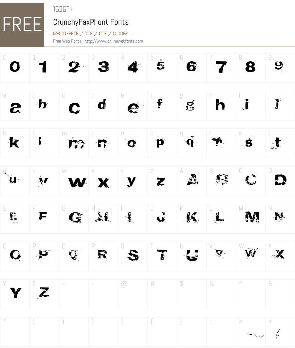 CrunchyFaxPhont Font Screenshots