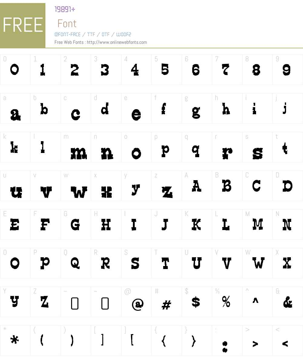 Edmunds Distressed Font Screenshots