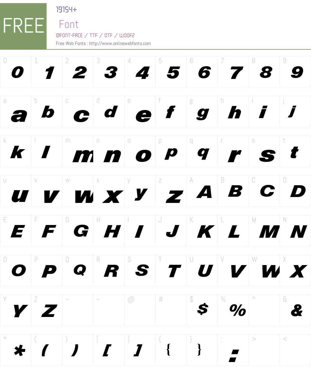 Helvetica Diagonal BQ Font Screenshots