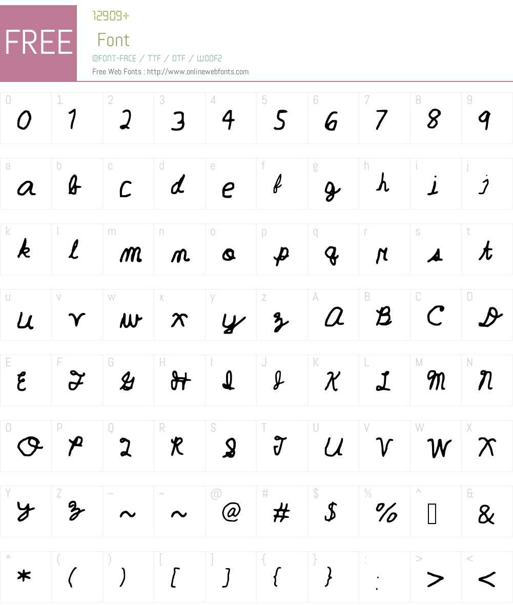 Geelyn___FontSpace_ Font Screenshots