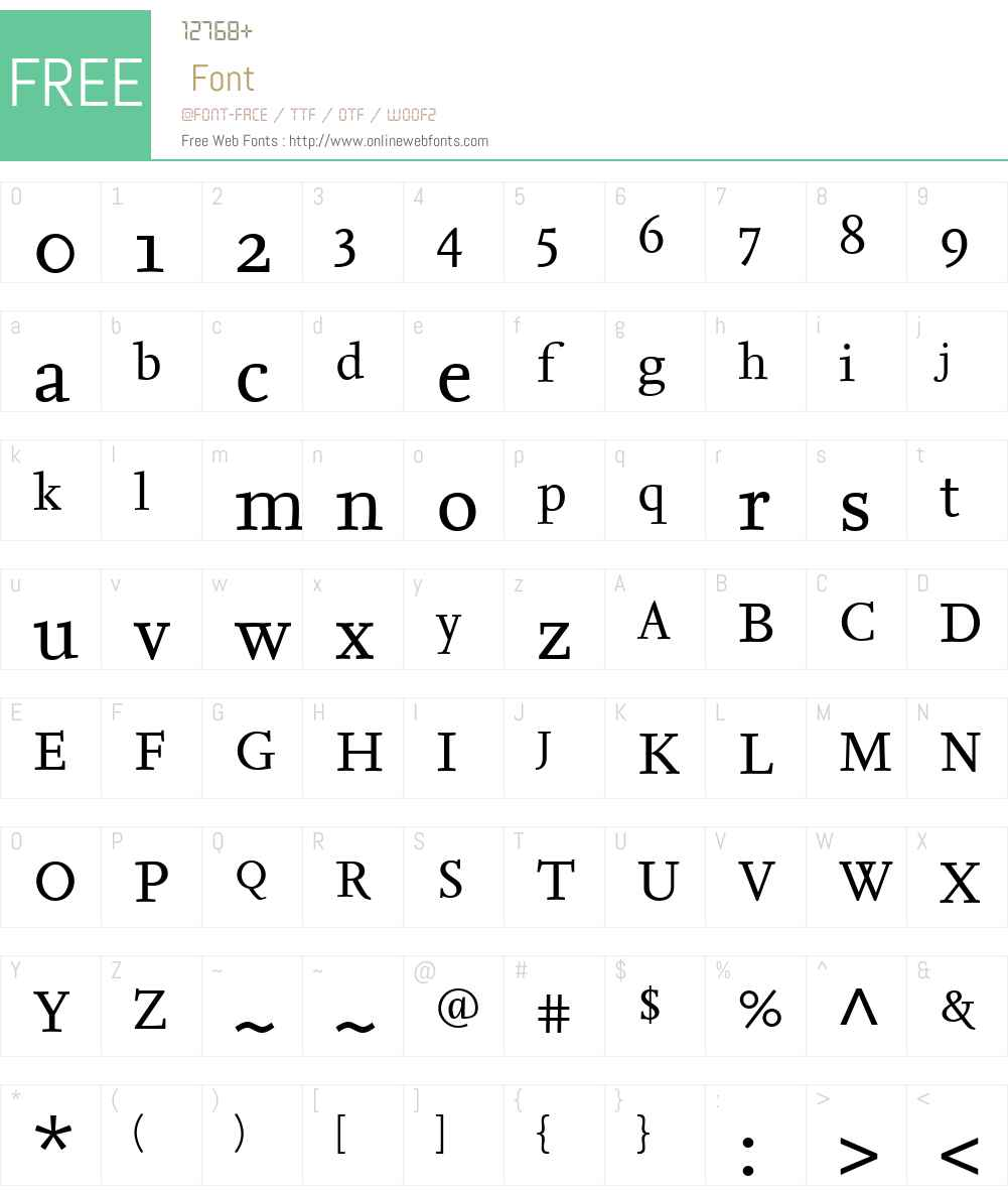 FF Nexus Serif Font Screenshots