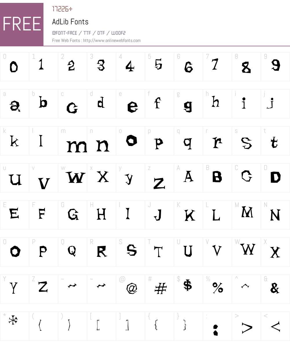 AdLib Font Screenshots