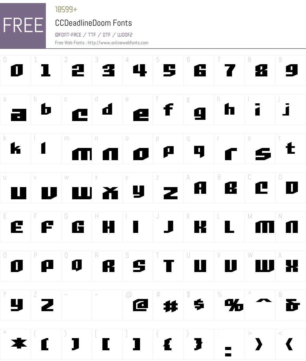 CCDeadlineDoom Font Screenshots