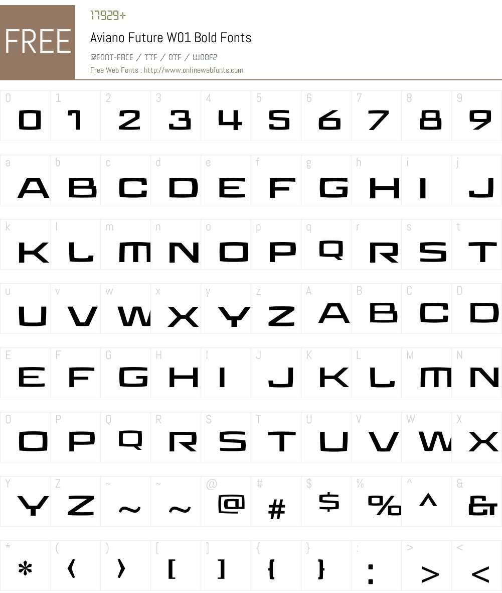 Aviano Future Bold Font Screenshots